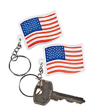 Patriotic USA Flag Key chains 12 Piece 4th of July Party Favor