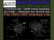 Genuine Subaru OEM Head Gasket Pair EJ18E 1993-1997 Impreza 1.8L NEW NR