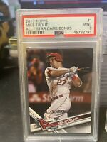 2017 Topps All-Star Game Bonus 1 Mike Trout [PSA 9]