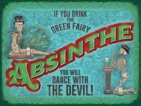 ABSINTHE Retro Metal Plaque/Sign, Pub, Bar, Man Cave,