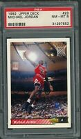 Michael Jordan Chicago Bulls 1992 Upper Deck Basketball Card #23 Graded PSA 8