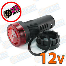 Zumbador panel con LED 12v 22mm 80dB 20mA ROJO Buzzer señal