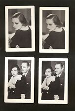 4 MGM Movie Cards 1932 GRAND HOTEL~JOAN CRAWFORD~JOHN BARRYMORE~NM-MINT COND.