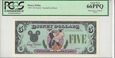 1987 $5 Goofy Disney Dollar PCGS 66 PPQ First year Type 2 PROOF VERY RARE no ser