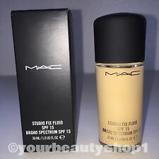 New Mac Foundation Studio Fix Fluid Foundation  SPF 15 NC20 100% Authentic