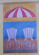 """Happiness Is Being By The Water  House Flag by Evergreen 29"""" by 43"""""""