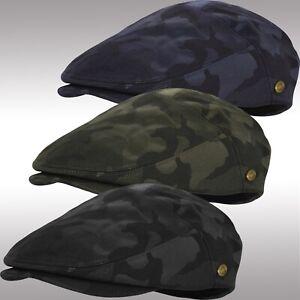 Premium Cotton Summer Newsboy Cap Camouflage SnapBrim Ivy Driving Hat EIV2927