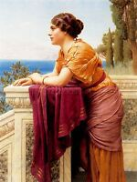JOHN WILLIAM GODWARD THE BELVEDERE OLD MASTER ART PAINTING PRINT POSTER 1663OMLV