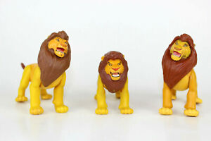 1994 Vintage Lion King Fighting Action  Lot of 3  Mufasa Adult Simba  Free Ship!
