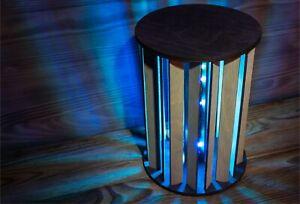Modern Cylinder Decoration Lamp  - Handmade Night Lamp/Desk Lamp - RGB LED strip