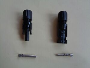 MC 4 Solar connectors - with contacts