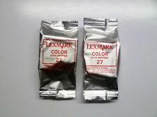 2 x Lexmark 27 color X74 X75 X1100 X1200 X2200 Z13 Z23 Z25 Z33 Z35 Z500 Z600 o.V