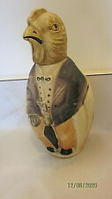 Vintage CELLULOID rattle Sitting Bird dressed in evening clothes w/umbrella