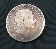 1819 King George III Silver Crown Broach Well Worn Condition