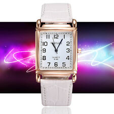 Ladies Quality Fashion Weein Rose Gold White Dial Quartz White Band Wrist Watch.