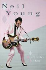 Neil Young 1983 Everybody's Rockin' Original Promo Poster