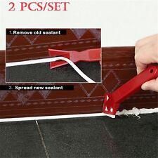 2 Pcs/set Scraper Spreader Spatula Caulking Finishing Sealant Grout Remover