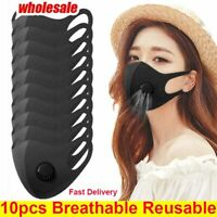 10X Face Mask With Valve 3D Mouth Cover Breathable Washable Reusable respirator