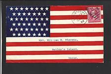 New listing Lewiston Maine Cover, 1898. Full Front Flag, Spanish American Patriotic.
