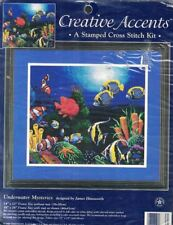 Underwater Mysteries a Stamped Cross Stitch Design Open Kit 7880 No Thread