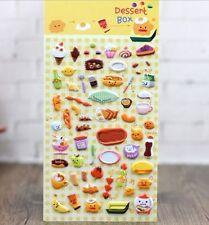 FD4499 Korea Design Dessert Box 3D Bubble Sticker for Diary Reward Phone✿