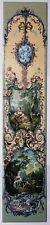 Versailles Decorative Tile Panel Vertical Bucolic Pastoral Fireplace 5 Tiles