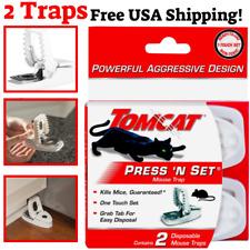 New listing Tomcat Press 'N Set Easy, Convenient, guaranteed Mouse Trap, 2 Traps