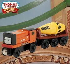THOMAS & FRIENDS WOODEN RAILWAY ~ RUSTY WITH CEMENT MIXER ~ ABSOLUTELY MINT!