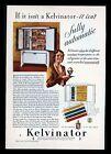 "Original 1932 ""Kelvinator"" Refigerator Pretty Gal Homemaker Art Decor Print Ad"
