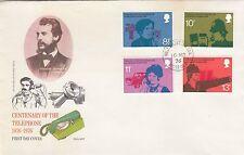 (99827) GB Philart FDC Telephone Alexander Graham Bell Wells CDS 10 Mar 1976