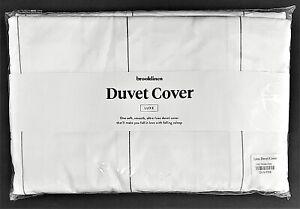 LUXE DUVET COVER~by Brooklinen~WINDOW PANE~Full/Queen~NEW