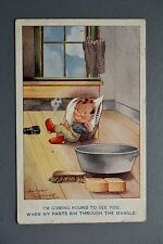 R&L Postcard: Albert Carnell Valentine, Mangle Clothes Washing Laundry Tin Bath