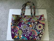 Vera Bradley Plum Crazy Grand Tote Bag New With Tags