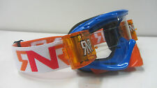 Motocross Goggles Rip N Roll Hybrid Roll Offs BLUE ORANGE RG28 Downhill MTB
