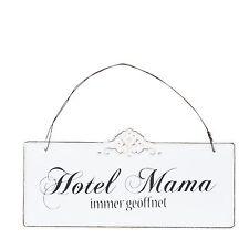Clayre & Eef Hotel Mama immer ... Schild Vintage Shabby Notalgie Dekoration Neu