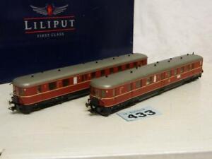 Liliput HO DB VT 25 1st/2nd Class 2pc Railcar Box L112501