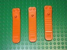 Lego Lot of 3 Orange Brick Axle Separator Human Tool Element Accessory Pieces