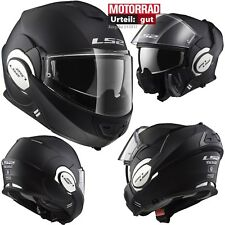 LS2 Klapphelm FF399 VALIANT MONO Motorrad Helm mit Pinlock Sonnenblende XL 61/62
