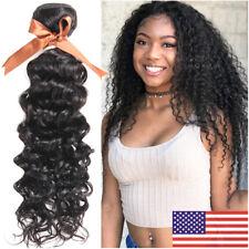 Brazilian 100% Virgin Human Hair Water Deep Wave THICK Weave 3Bundles Extensions