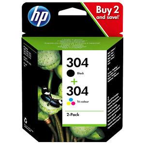 HP 304 Combo Noir et Tricouleur d'origine Cartouche d'encre pour Deskjet 3720
