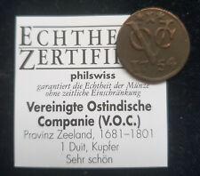 MDS NIEDERLANDE PROVINZ ZEELAND V.O.C. 1 DUIT 1754, KUPFER
