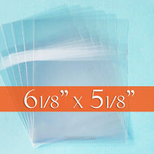 500 Cello Bags, 6 1/8 x 5 1/8 CD Jewel Case Sized Clear Packaging, Tape on Body