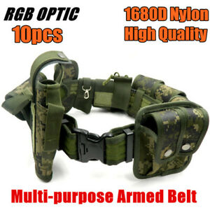 10pcs Tactical Police Camouflage Security Guard Modular Enforcement Duty Belt