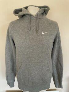Nike Cotton Hoodie Hooded Sweatshirt Grey Small Mens