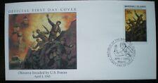 COVER Copertura 1945 Okinawa invaso da forze statunitensi seconda guerra mondiale-MARSHALL ISLAND