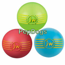 "JW iSqueak SMALL 2"" Squeaker Ball Durable Rubber Squeaky Fetch Dog Toy"