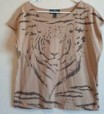 Lauren  Ralph Lauren Active Womens Tiger Print Top Cap Sleeve XL Signature