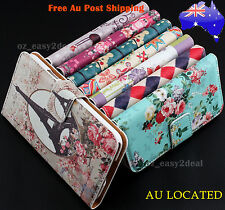Floral Flower Flip Stand Purse Case Cover For Samsung Galaxy S3 S4 S5 Note 2 3 4