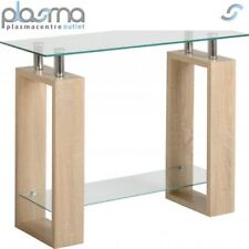 Valufurniture Naples Oak Effect Console Table - Sonoma Oak Effect Veneer