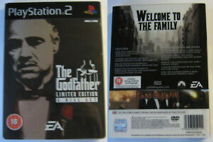 THE GODFATHER 2 DISC LIMITED EDITION SONY PS2 STEELBOOK SLIPCOVER